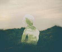 Young Woman Meditating. Peace ...
