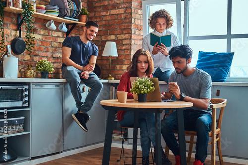 Fotografia  Kitchen in student dormitory