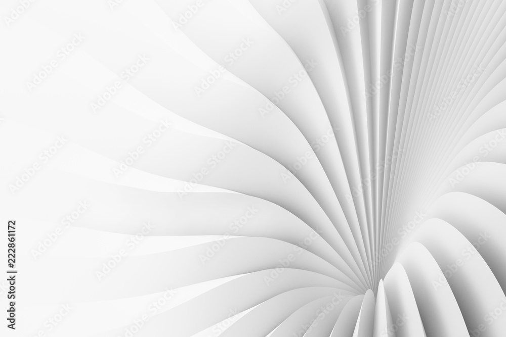 Texture of divergent white stripes. 3d illustration