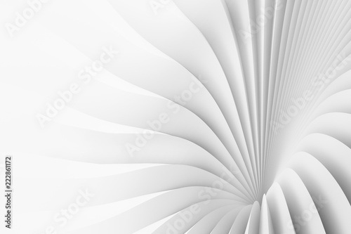 Fototapety, obrazy: Texture of divergent white stripes. 3d illustration