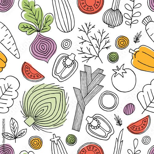 minimalistyczny-warzywa-wzor-liniowa-grafika-tlo-warzywa-skandynawski-styl