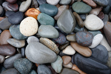 Abstract Background With Round Wet Pebble Stones
