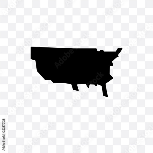 us map icon isolated on transparent background. Simple and ...
