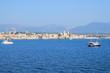 Magnifique vue panoramique sur la vieille ville fortifiée d'Antibes, Cote d'Azur, France