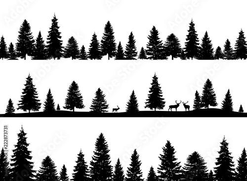 Fototapeta Forest set obraz