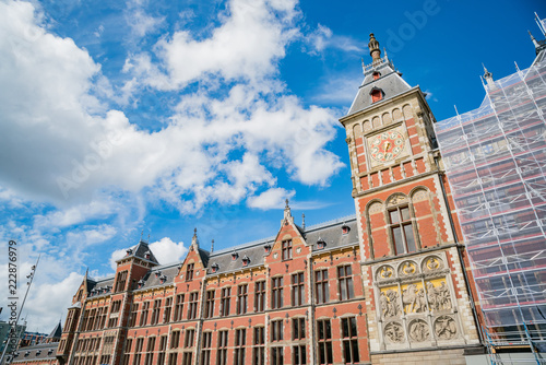 Photo  Exterior view of the Amsterdam Centraal station