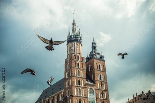 Spoed Foto op Canvas Krakau St. Mary's Basilica in Cracow