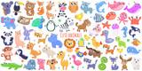 Fototapeta Fototapety na ścianę do pokoju dziecięcego - Cute cartoon animals. flat design