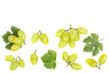 Green Grapes Isolated On The W...
