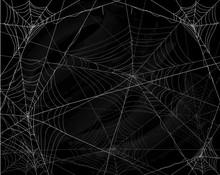 Black Halloween Background Wit...