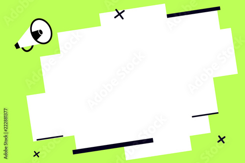 Flat design business Vector Illustration concept Empty template copy space Posters coupons promotional material Canvas Print