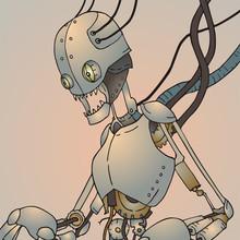 Futuristic Broken Robot