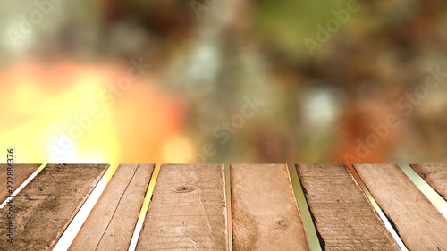 Poster Tuin Spring background table