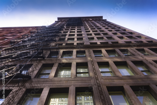 Poster Stad gebouw Early office tower in Chicago