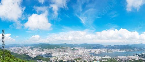 Fototapete - 都市風景 長崎市 稲佐山からの眺望