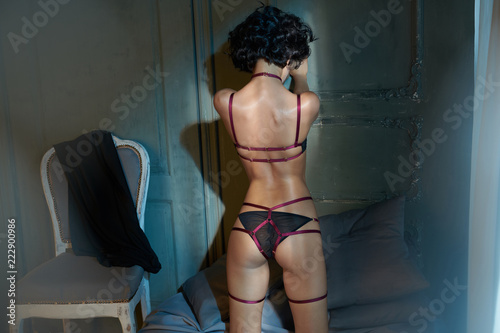 Fotobehang womenART erotic portrait of young beautiful woman in sexy lingerie