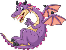 Cartoon Dragon Isolated On Whi...