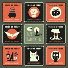 Halloween Vector Greeting Card...