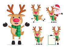 Reindeer Vector Character Set....