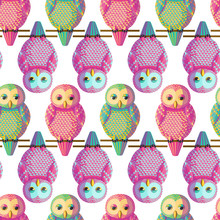 Seamless Vector Pattern With M...