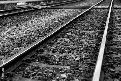 Foto op Canvas Spoorlijn railroad tracks
