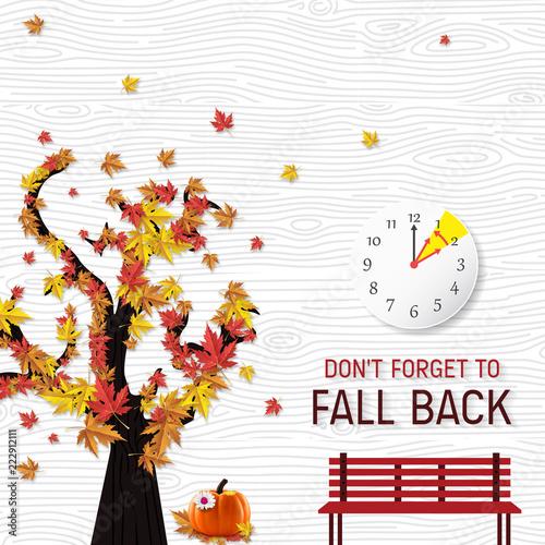 Fototapeta Day Light Savings Time End - Don't Forget To Fall Back. obraz