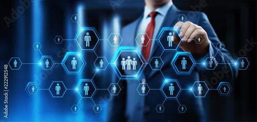 Fotografía  Human Resources HR management Recruitment Employment Headhunting Concept