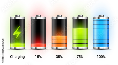 Battery charge design Fototapete
