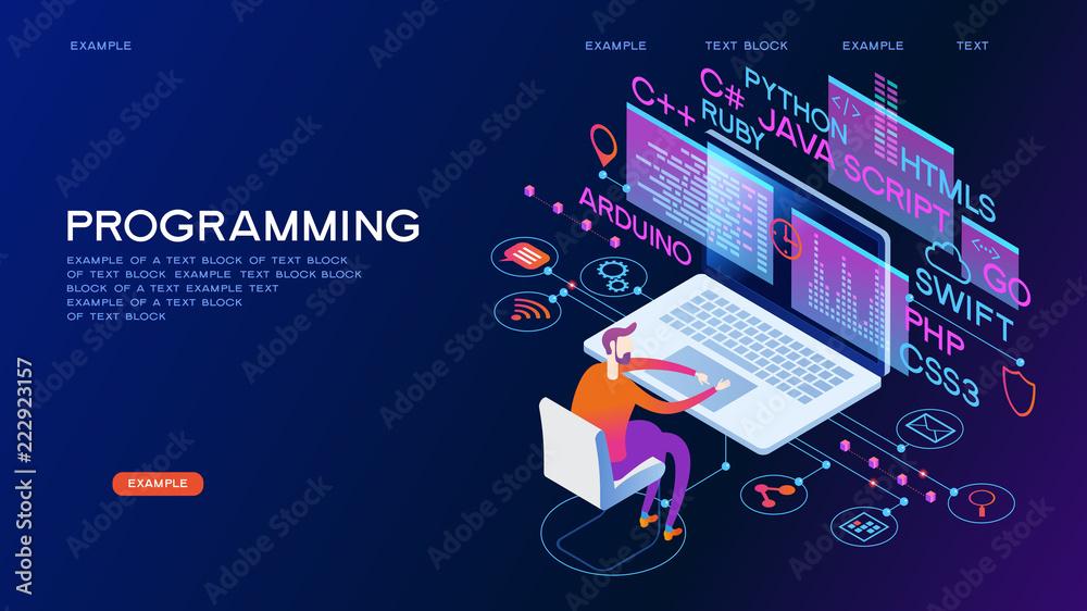 Fototapeta Programming web banner