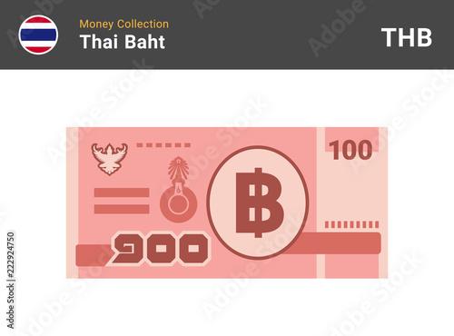 Fotografia, Obraz Thai baht banknone