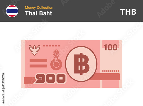 Canvas-taulu Thai baht banknone