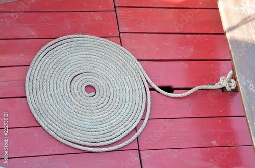 Fotografiet  Marine rope (cordage de marine)