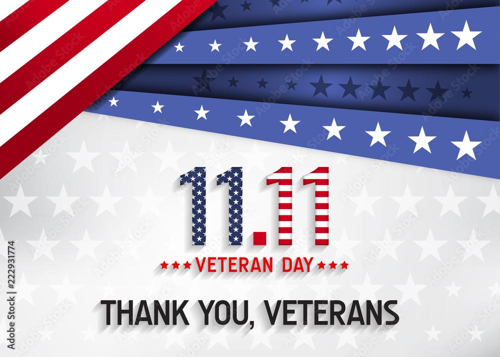Fototapeta Veterans day background. Say