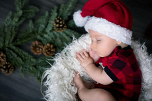 Little Baby Boy With Christmas...