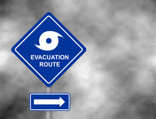 Warning Evacuation Route Road....