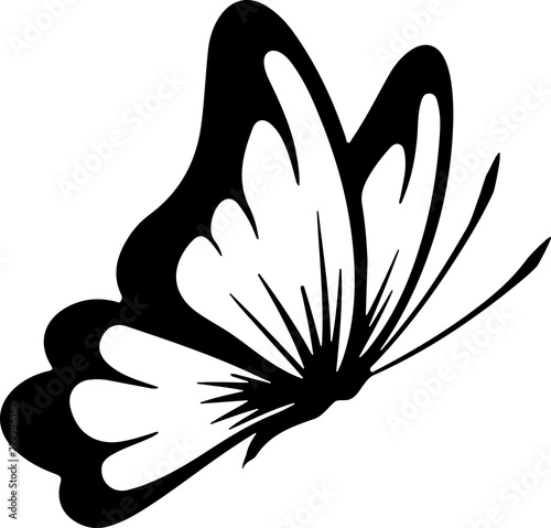 Butterfly silhouette tatoo
