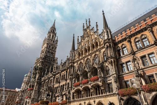 Tuinposter Historisch geb. New Town Hall - Neue Rathaus - Munich Germany