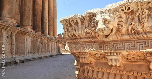 Baalbek Roman Ruins in Lebanon Canvas Print