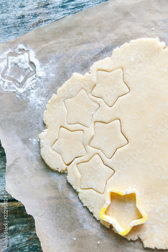 Cutting Out Star Shapes For Homemade Christmas Cookies Buy This