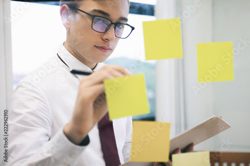 Fototapety, obrazy: Businessman analyse planing the business strategy.