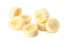 Fresh Banana Slices Isolated O...
