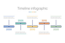 Infographic With Timeline Markers And Chronology