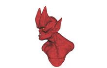 Roter Teufel Mit Hörnern