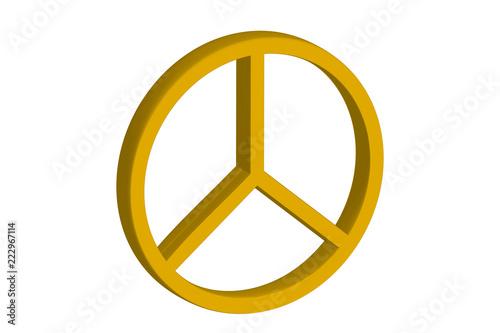Foto  Símbolo amarillo de la paz.