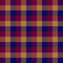 Vector Tartan Plaid Pattern In Red, Blue And Brown Colors