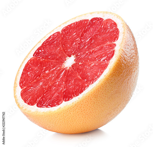 Half of ripe grapefruit