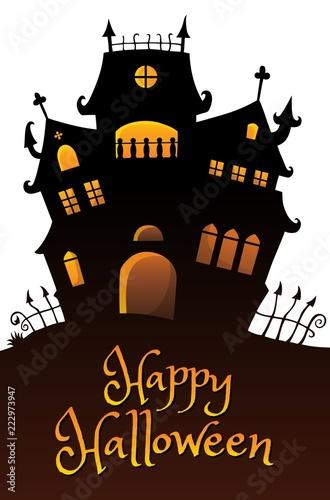 Spoed Foto op Canvas Voor kinderen Happy Halloween composition image 9