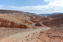Dirt Road In Desert Negev, Isr...