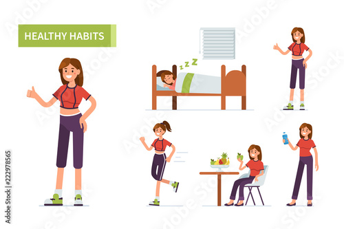 Fotomural healthy habits