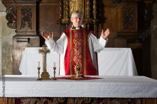 Obraz na plátně Blessing the chalice